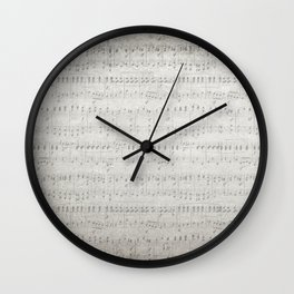 "MUSIC by collection ""Music"" Wall Clock"