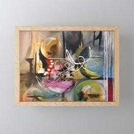 Abstract landscape color bubbles energy memories earth  Framed Mini Art Print