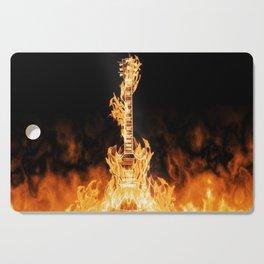 Flaming Guitar Cutting Board