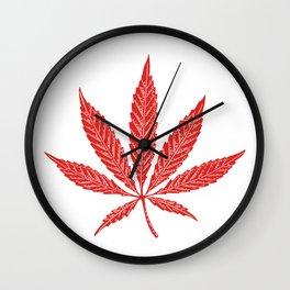 Canada Cannabis Flag Wall Clock