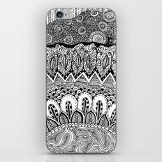 Black and White Doodle iPhone & iPod Skin