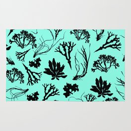 Seaweed Mint Green Pattern Rug