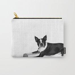 Fetch Boston Terrier B/W Carry-All Pouch
