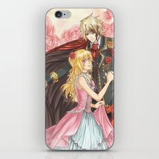 Dancing roses iPhone Skin