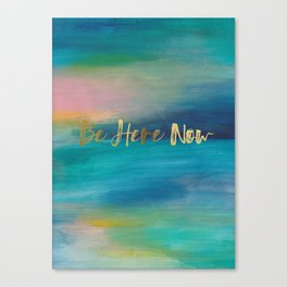 Be Here Now, Ocean Sunrise 4 Canvas Print