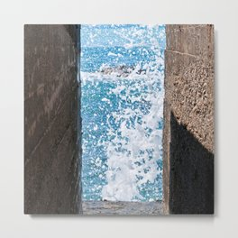 The Power of Sea - Sicily Metal Print