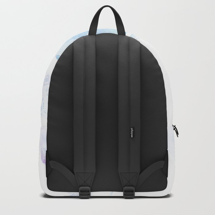 Faded galaxy feathers Backpack