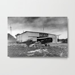 Omaha airfield airplain hangar america 1940s usa transportation Metal Print