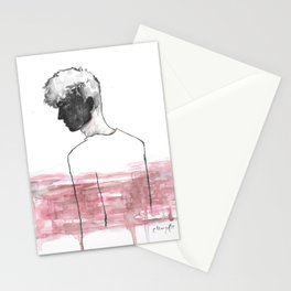 Moment in Time, Portrait Figure Painting Illustration Stationery Cards