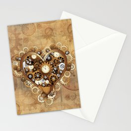Steampunk Heart Love Stationery Cards