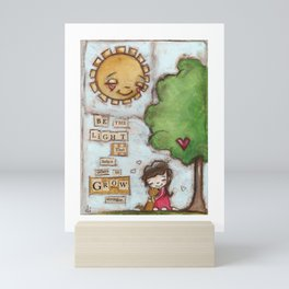 Be the Light (with dog) Mini Art Print