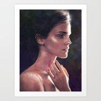 emma watson Art Prints featuring Emma Watson by Isabella Morawetz