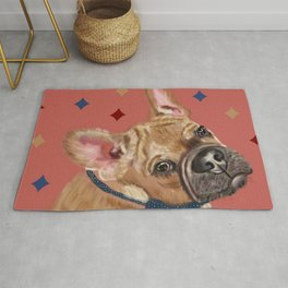Queen Pugs #DogPortrait Rug