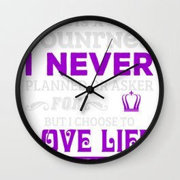 Fight with Lupus to Get Better Life-01 Wall Clock