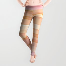 Soft sandy peachy Earth_peach & pale pink palette_ abstract watercolor  Leggings
