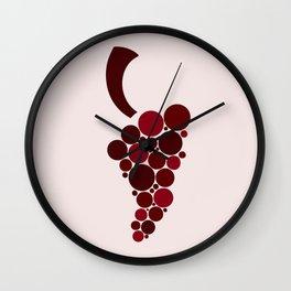 Wine Grape Wall Clock