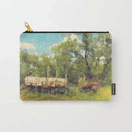 Army Wagon and Mule c.1840s Carry-All Pouch