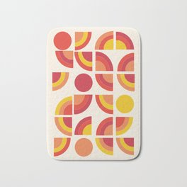 Boogie - abstract retro minimalist 70s 1970s style pattern art 70's 1970's Bath Mat