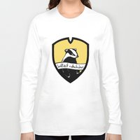 hufflepuff Long Sleeve T-shirts featuring Hufflepuff Motherfuckers! by Emma Ehrling