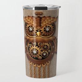 Steampunk Owl Vintage Style Travel Mug
