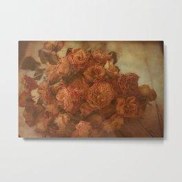 Old Orange Roses Metal Print