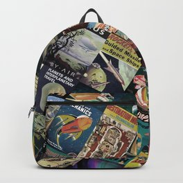 Mosaic - retro space travel Backpack