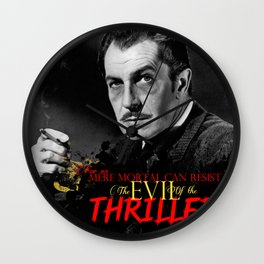 The Evil of the Thriller, Vincent Price Wall Clock