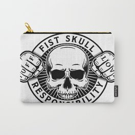 Black/White Emblem Carry-All Pouch