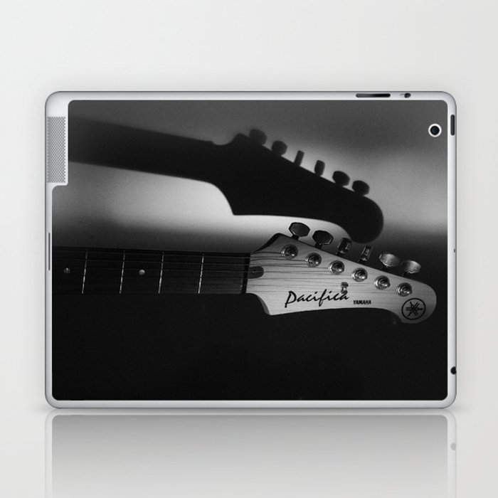 Yamaha Pacifica in black and white Laptop & iPad Skin