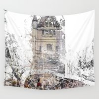 london map Wall Tapestries featuring London by Nicolas Jolly