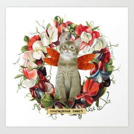 Sweet Pea Cat Art Print