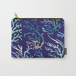 underwater blue corals Carry-All Pouch
