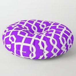 Grille No. 3 -- Indigo Floor Pillow