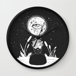 drowing in a swamp Wall Clock