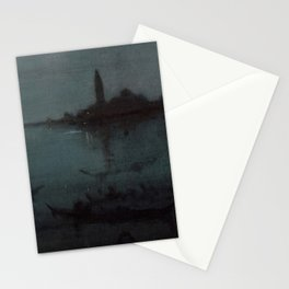 Nocturne in Blue and Silver - The Lagoon, Venice by James McNeill Whistler Stationery Cards