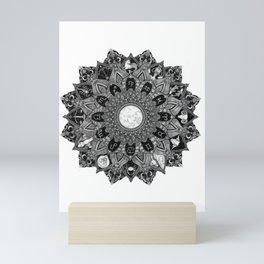 Zodiac Signs Mandala Mini Art Print