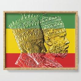 Haile Selassie King Menelik Serving Tray