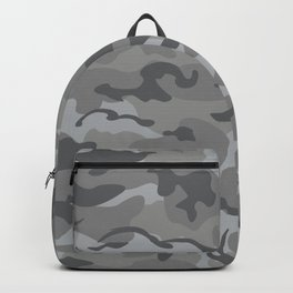 Camo Style - Gray Camouflage Backpack
