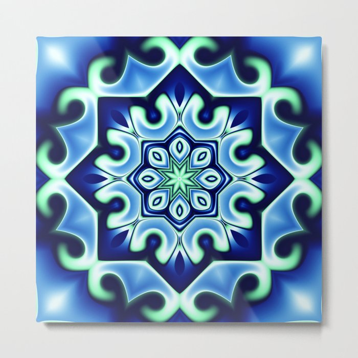 Ice flower Metal Print
