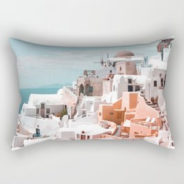 Santorini, Oia Rectangular Pillow