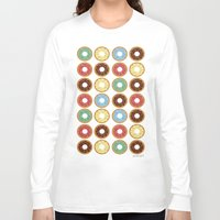 donuts Long Sleeve T-shirts featuring Donuts!! by Ron (Rockett) Trickett