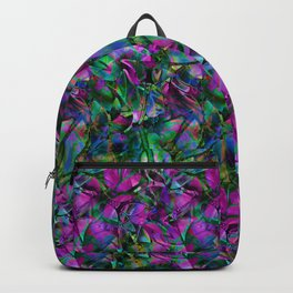 Floral Abstract Stained Glass G276 Backpack