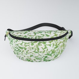Shades of Green with White Fanny Pack