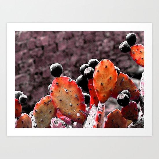 Cactus-Orange Art Print