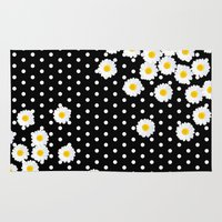 daisy Area & Throw Rugs featuring DAISY by Monika Strigel