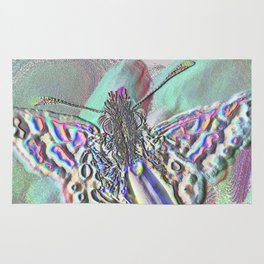 Multichrome Butterfly Rug
