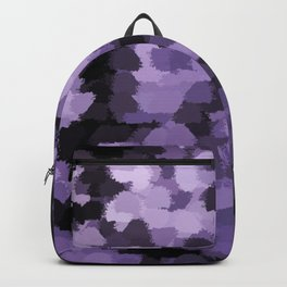 Dark abstract pattern on silver background Backpack