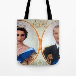 Queen Elizabeth 11 & Prince Philip in 1952 Tote Bag