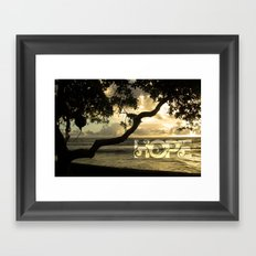 Hawaii-Hope Framed Art Print