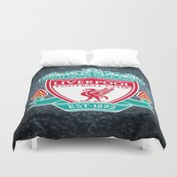 liverpool Duvet Covers featuring LIVERPOOL by Acus